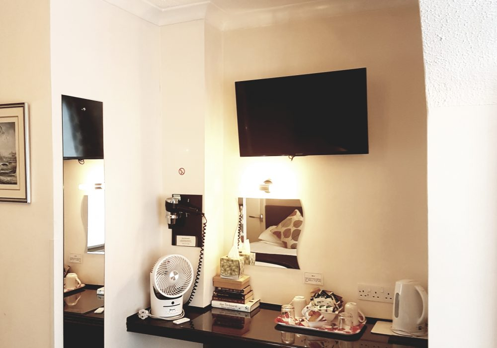 Ensuite twin room at the ground floor